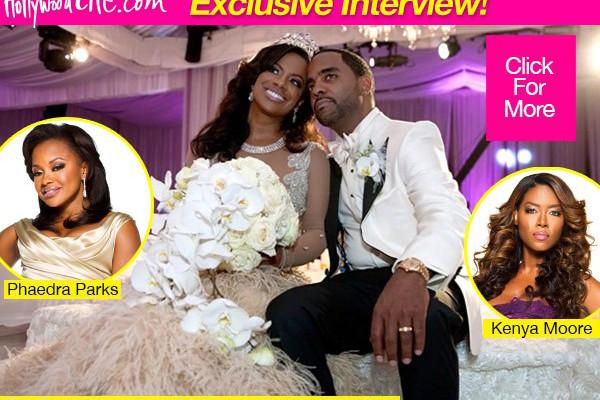 Kenya Moore Wedding.Kandi Talks Getting Pregnant Rhoa Wedding Details Kandi Burruss