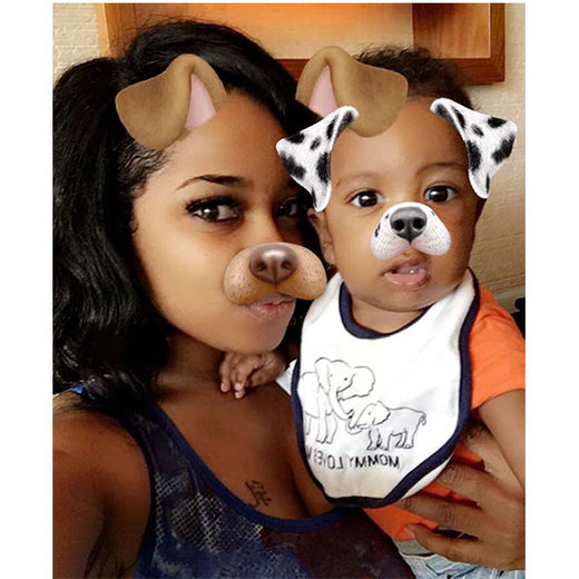 Baby Ace shared some puppy love with his Auntie Toya!
