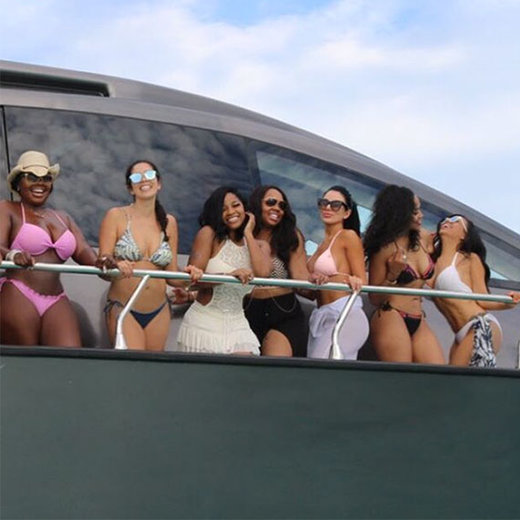 When on a boat, you laugh, you party, you enjoy life.